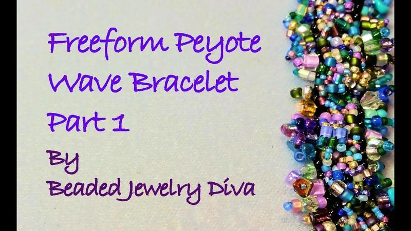 Freeform Peyote Tutorial: The Wave Beaded Bracelet Tutorial Part 1