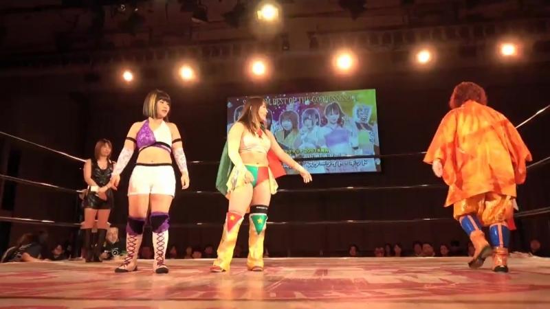 Konami ShiKid (Shiki Shibusawa Starlight Kid) vs. Team Jungle (Jungle Kyona, Kaori Yoneyama Natsuko Tora)