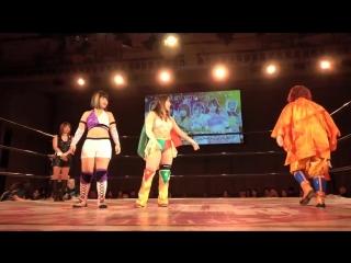Konami & ShiKid (Shiki Shibusawa & Starlight Kid) vs. Team Jungle (Jungle Kyona, Kaori Yoneyama & Natsuko Tora)