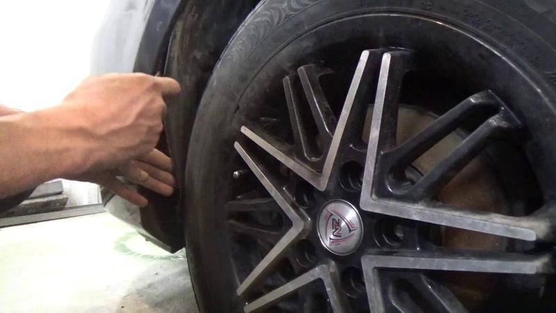 Mazda 3 I ВК Снимаем передний бампер