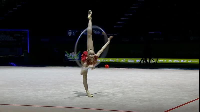 Виктория Оноприенко Обруч Квал Чемпионат Европы Баку 2019