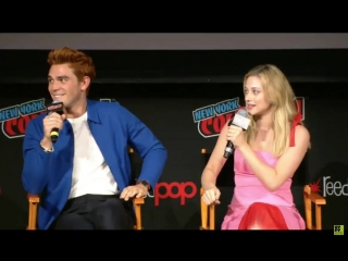 [VIDEO] @kj_apa @lilireinhart at their Riverdale panel in New York for NYCC today, discussing a memorable moment from season 2 i