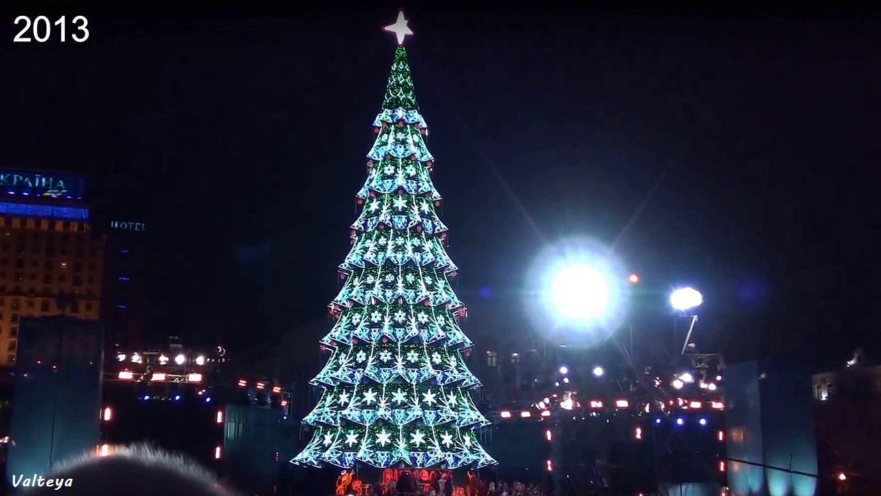 Как менялась новогодняя елка в Киеве за 9 лет. Di_8i59ZZAk