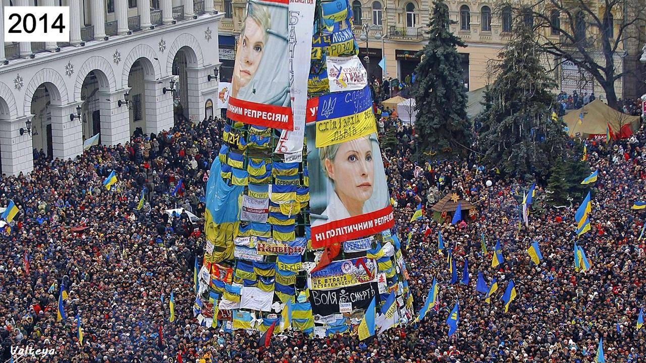 Как менялась новогодняя елка в Киеве за 9 лет. NFuLakE4TiM
