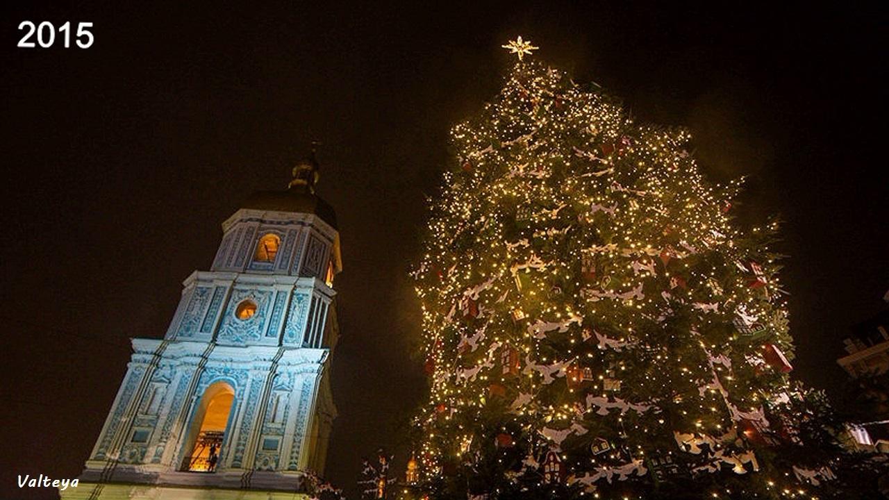 Как менялась новогодняя елка в Киеве за 9 лет. VWle17PdC8I