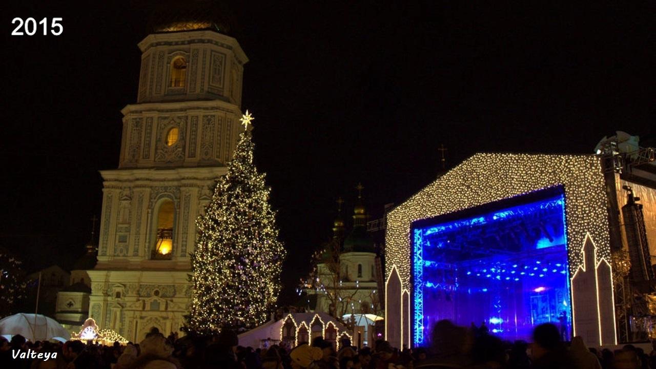 Как менялась новогодняя елка в Киеве за 9 лет. U3zUyEbmZUI