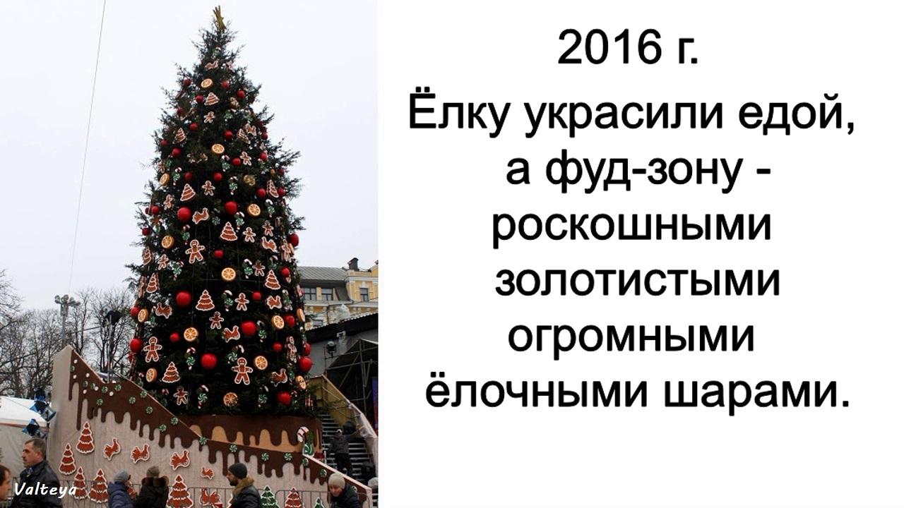 Как менялась новогодняя елка в Киеве за 9 лет. TpZHlI1pAzA