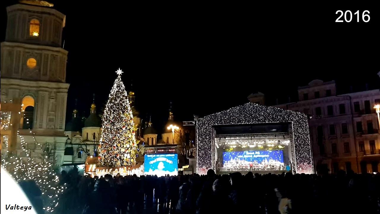 Как менялась новогодняя елка в Киеве за 9 лет. CVH4P77AqVI