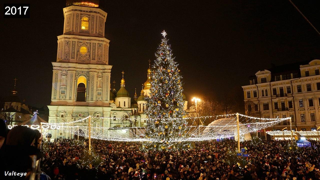 Как менялась новогодняя елка в Киеве за 9 лет. IuZzmg-WlA8