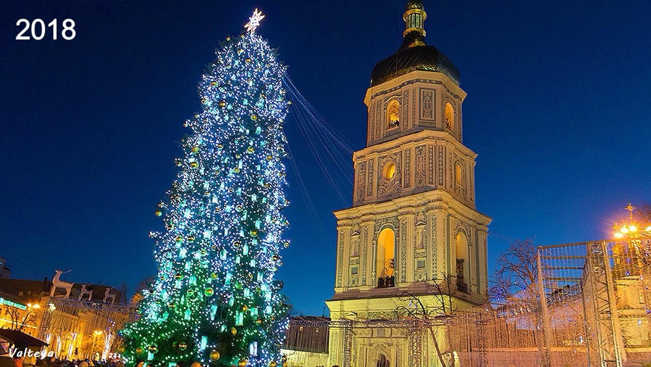 Как менялась новогодняя елка в Киеве за 9 лет. GRonYlN29EI