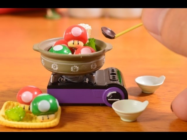 1up きのこ鍋 How to make a mushrooms pot stopmotion miniature cooking・ストップモーション料理