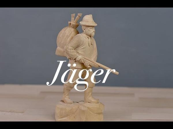 Jäger Figur schnitzen