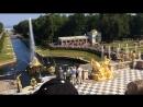 На торжественном открытии фонтанов в Петергофе