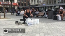 Matthew Pretty The Bucket Boy From Las Vegas Performing At The Leidse Square In Amsterdam 2017