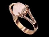 Morganite engagement ring making