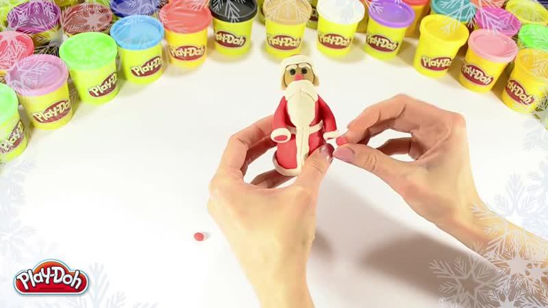 Как слепить Деда Мороза из пластилина