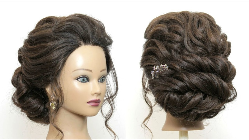 New Hairstyle For Girls. Soft Prom Updo. Party Hair Tutorial