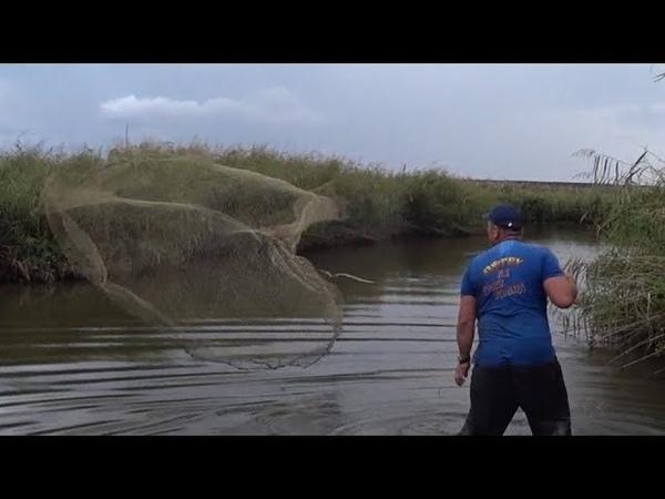 Ловим рыбу из частных водоёмов Кастинговой сетью.
