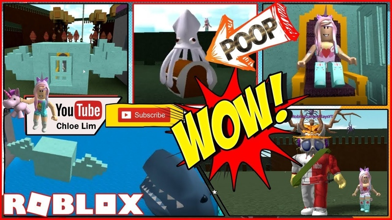 🦑 Roblox Build A Boat For Treasure! The Ghost Squid POOPS OUT CHESTS! My Candy Boat! Loud Warning!