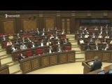 Армянские депутаты Мигран Погосян и Сасун Микаелян чуть не повздорили 1 мая 2018 года