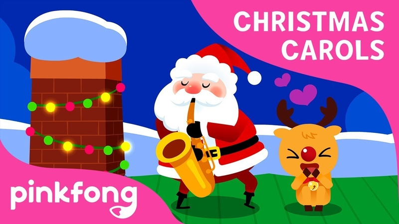 Santa Comes Down the Chimney | Christmas Song | Carol for Kids | Pinkfong Songs for Children