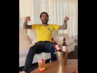 Реакция Дани Алвеса на победу Бразилии