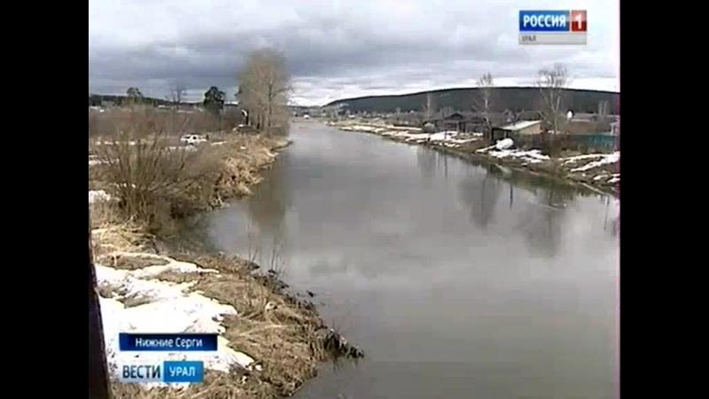 В Нижних Сергах стоки загрязняют реку
