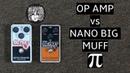 Electro-Harmonix Op-amp Big Muff Pi vs Nano Big Muff Pi Comparison Demo