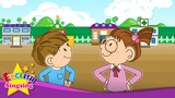 Hi. Hello. Good bye. (Greeting song) - English kids song - Let's sing a song