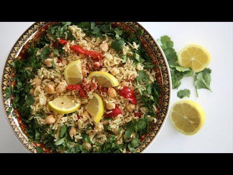 Բրնձով Սիսեռով Աղցան - Basmati Rice Chickpea Salad - Heghineh Cooking Show in Armenian