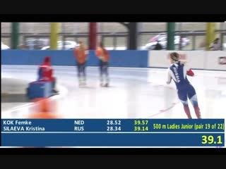 Кристина Силаева 500м - 39.14