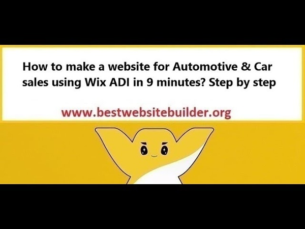 How to make a website for Automotive Car sales using Wix ADI in 9 minutes? Step by step