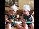 Такая разная реакция близнецов на песенку