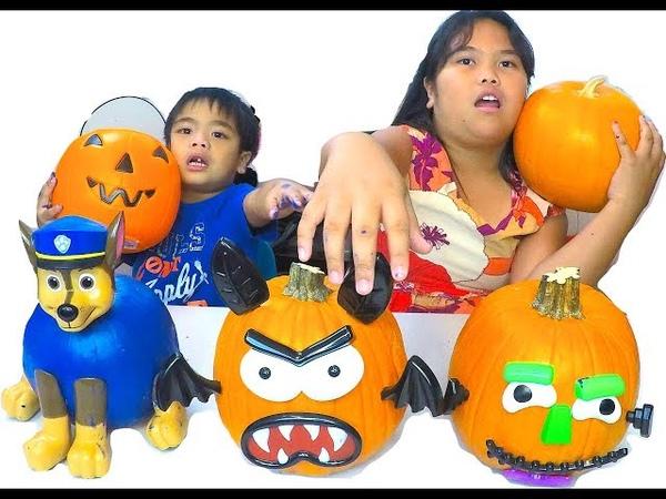 Halloween Pumpkin Kids Painting DIY Decorating Pumpkins for Kids