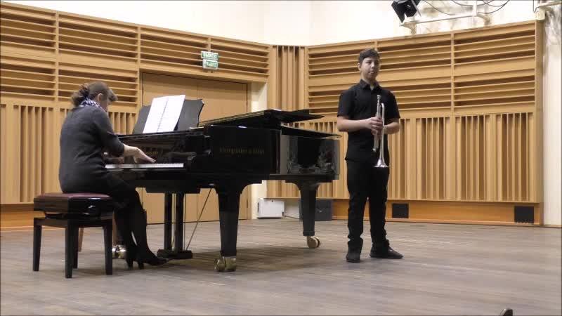 Концерт для трубы, 1 часть, О. Бёме, исп. Артур Сайфулин, 13 лет, труба