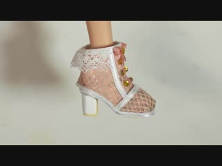 How to Cute Doll Boots - Sweet Lolita inspired Barbie Shoes Tutorial
