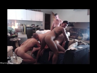 5 way with jack hunter, josh moore & ricky roman crazy orgy