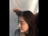 Укладка челки в корейском стиле