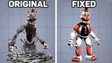 Fixed VS. Original Animatronics in Five Nights at Freddy's #4