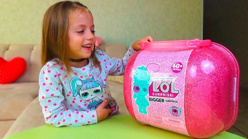 ОДНИ ДОМА Открыли ЛОЛ сюрприз LOL Surprise BIGGER SURPRISE for kids КУКЛЫ с париками