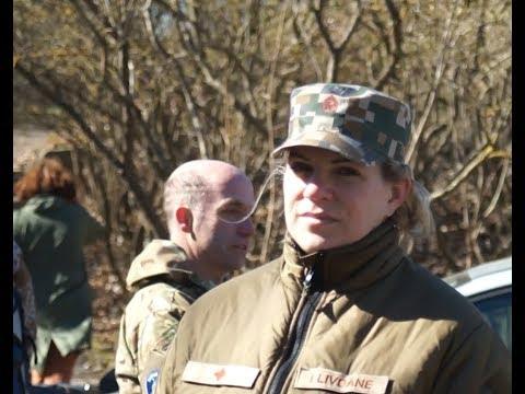 Солдаты NATO устроили субботник в Даугавгривской крепости 21.04.2018.