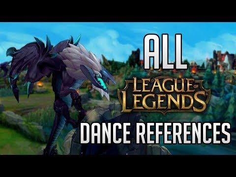 ALL DANCE REFERENCES in League of Legends (2018) | All in one video
