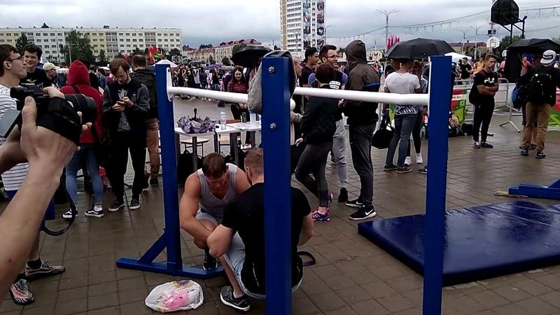 Cоревнование по воркауту на Славянском базаре 2018. Как я выступил в дисциплине.