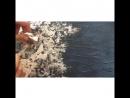 Процесс создания абстрактной картины для интерьера