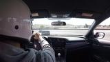 Honda Civic Type R chasing Corvette C6 Z06 at Laguna Seca. 142.0 lap.