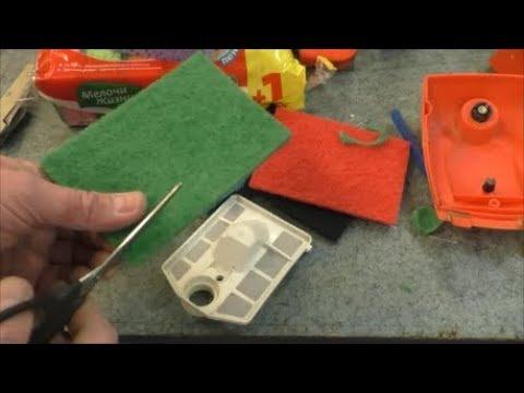 Доработка воздушного фильтра китайской бензопилы/Completion of the air filter of the chainsaw