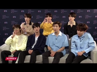 180518 BTS On Their Favorite Body Parts & Their Fan-Organized Purple Ribbon Army @ Access