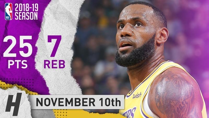 LeBron James Full Highlights Lakers vs Kings 2018.11.10 - 25 Points, 7 Reb, SICK!