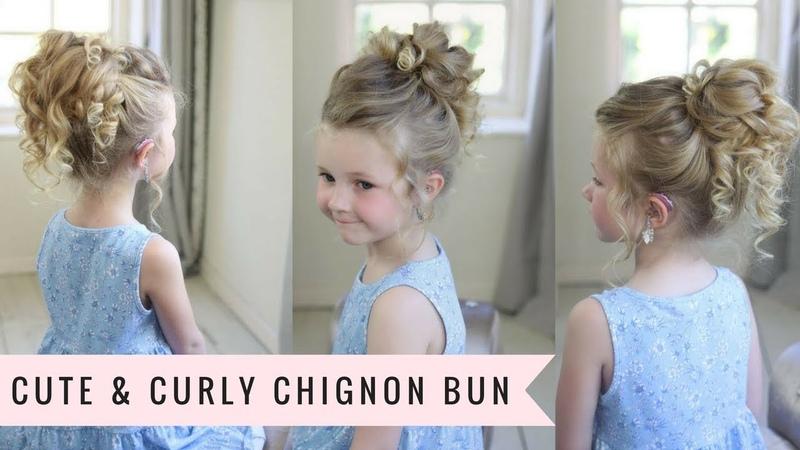 Cute Curly Chignon Bun