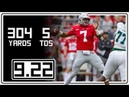 Dwayne Haskins Full Highlights Ohio State vs Tulane 9.22.18 304 Yards, 5 TDs